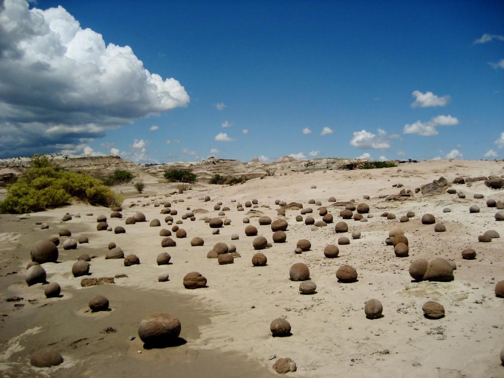 Nationaal park Ischigualasto (weer in Argentinië). Waarom het ook wel 'Valley of the moon' genoemd wordt behoeft weinig uitleg.