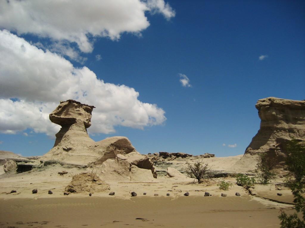 Nogmaals Ischigualasto. Dit wordt de Sfinx genoemd.