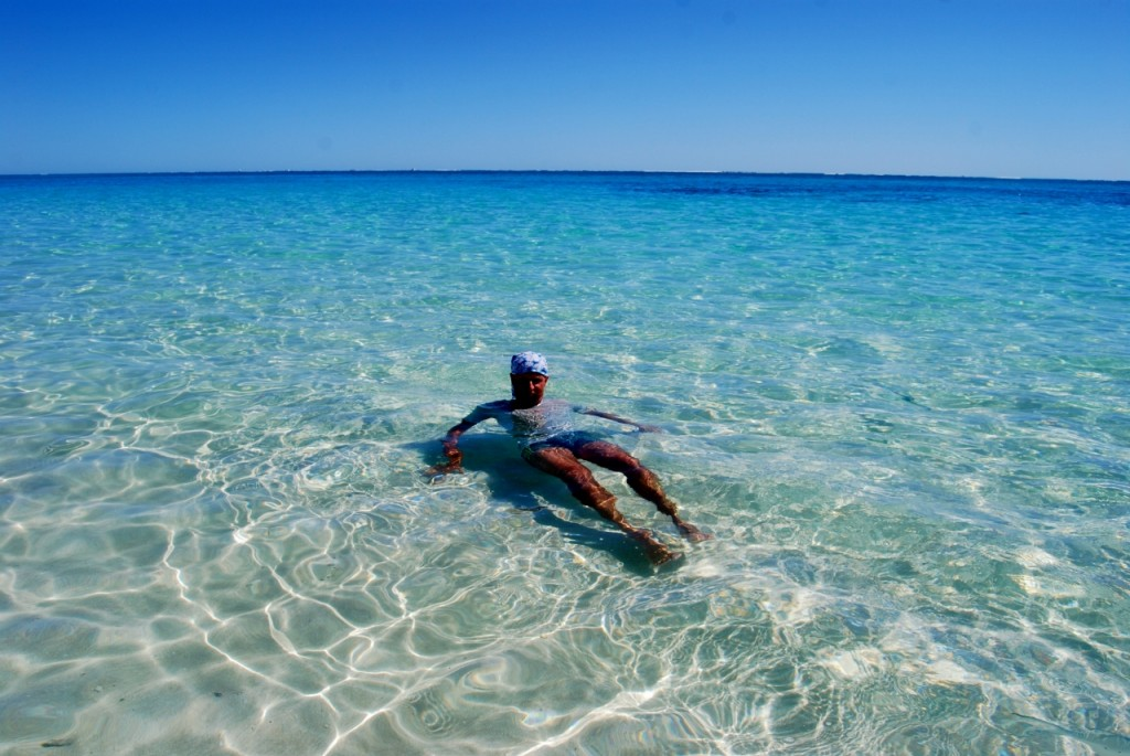 Het enige nadeel: er is geen stromend water, dus douchen/wassen moet in de zee. Maar daar valt best aan te  wennen