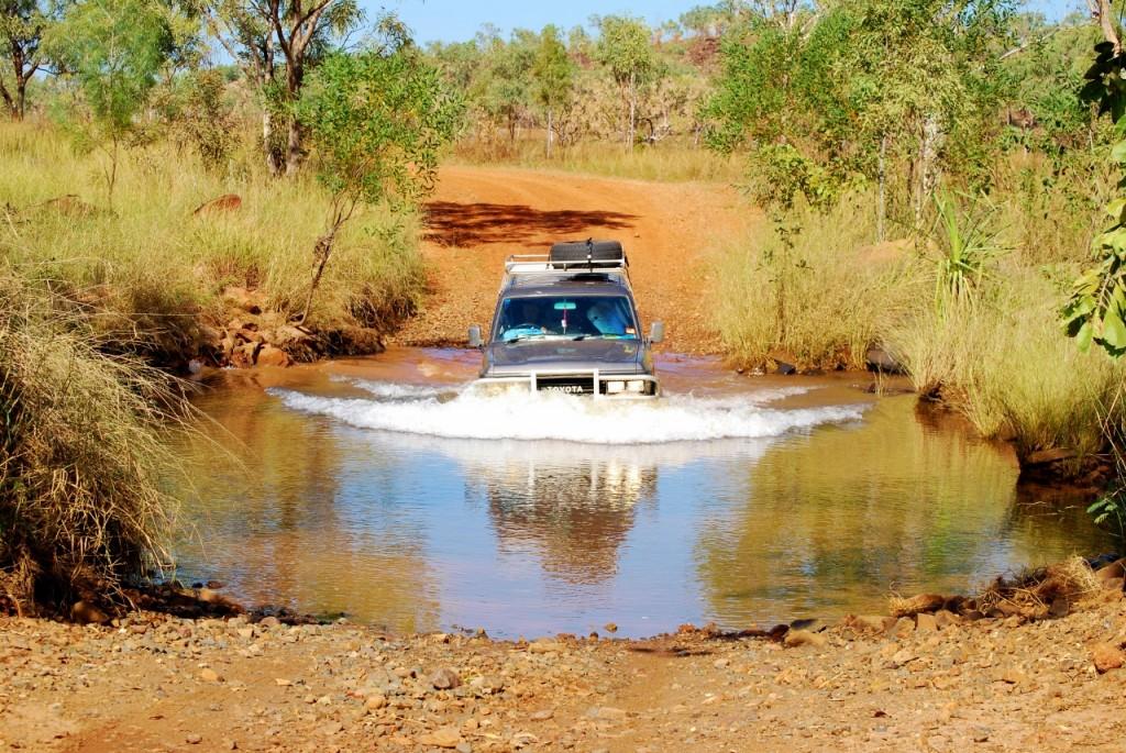 Deze kleine rivier was om te oefenen en kon nog zonder tarp.
