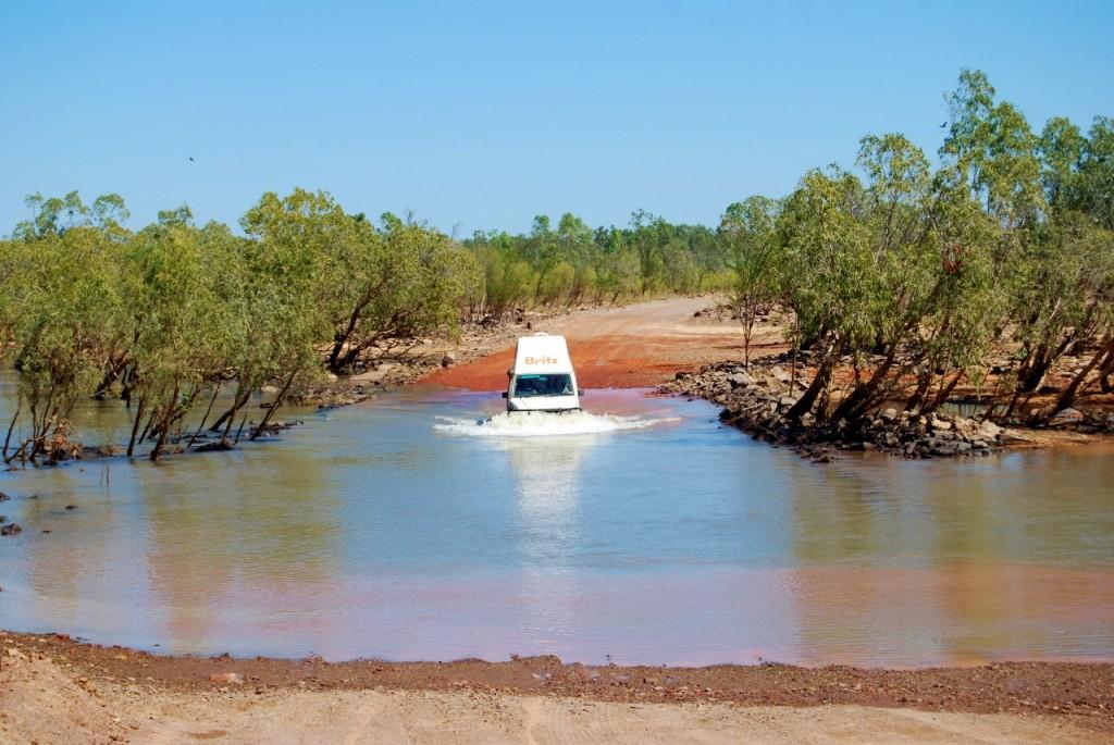 De Durack river was het diepst. Ook deze had een snorkel. Maar met een stuk plastic ervoor lukte het uiteindelijk ook.