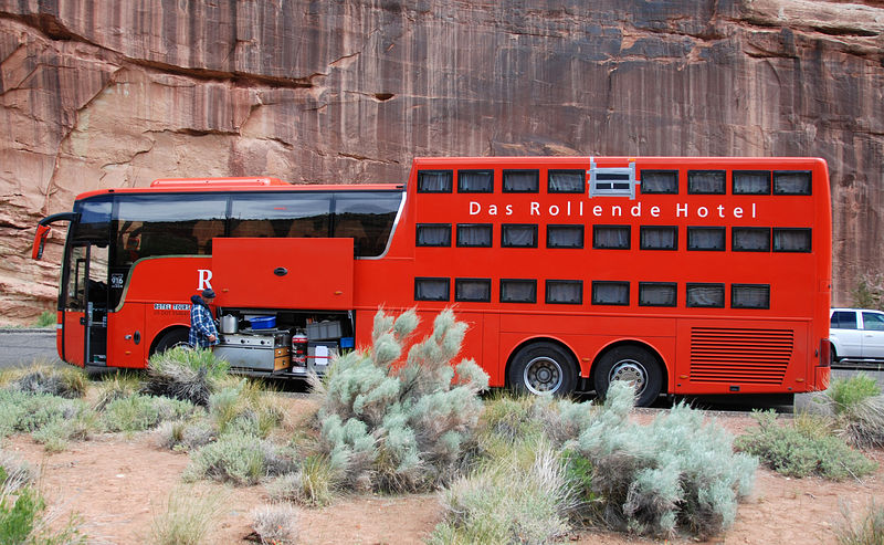 Utah - Capitol Reef National Park - Rim Overlook Trail - Das Rollende Hotel - Sleeper Bus